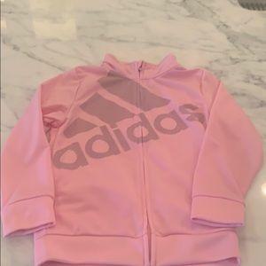 Girls ADIDAS pink jacket
